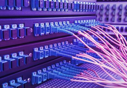 Router mit Glasfaser